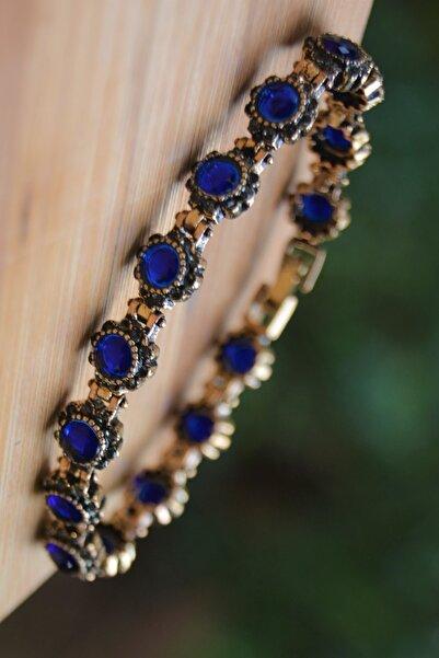 Stoneage Black Diamond Ve Safir Mavi Taşlı Bileklik