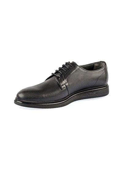 Fosco Bağcıklı Siyah Hakiki Deri Erkek Günlük Ayakkabı 9125 660