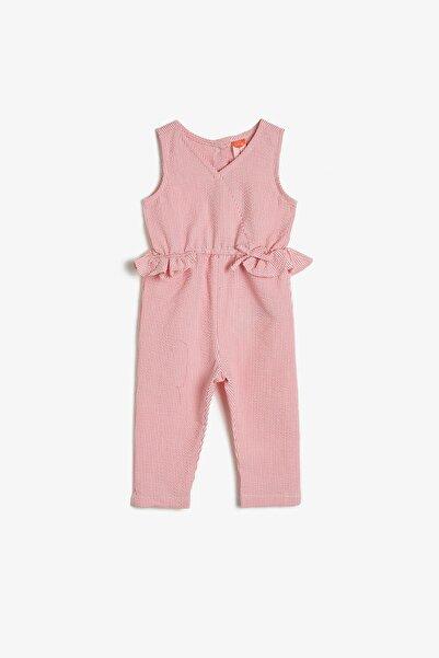 Koton Kız Bebek Kırmızı Çizgili Tulum 0YMG49182ZW