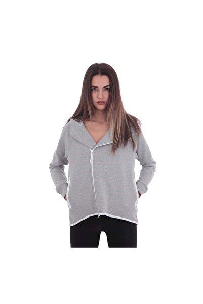 Nike W Nsw Tch Flc Cape Fz Kadın Ceket Gri