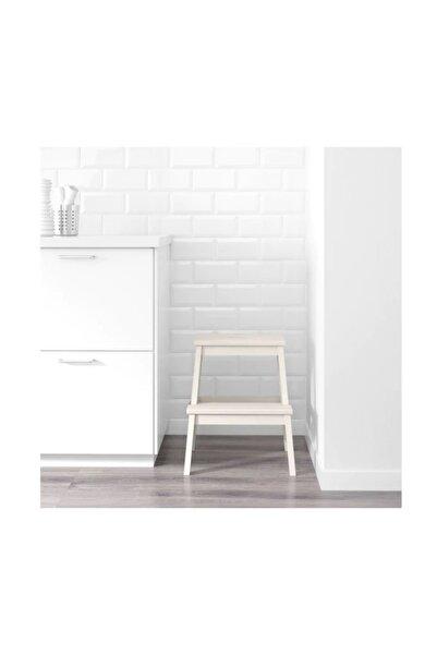 IKEA Beyaz Bekvam Basamaklı Mutfak Tabure Merdiven