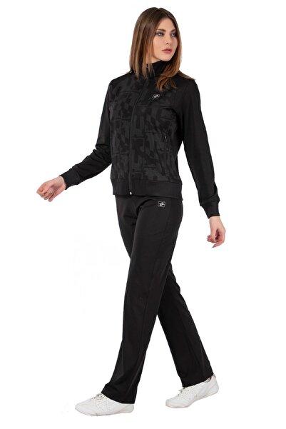 Crozwise kadın eşofman takımı siyah dalgıç 1219-10