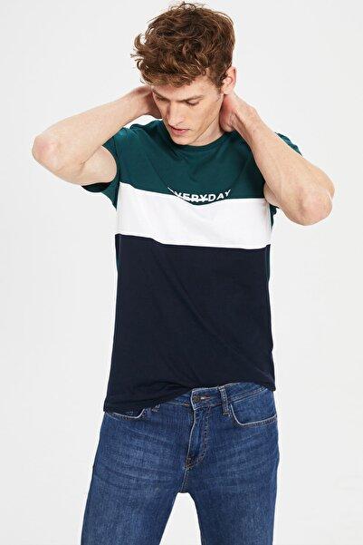 LC Waikiki Erkek Koyu Yeşil T-shirt 0S1231Z8