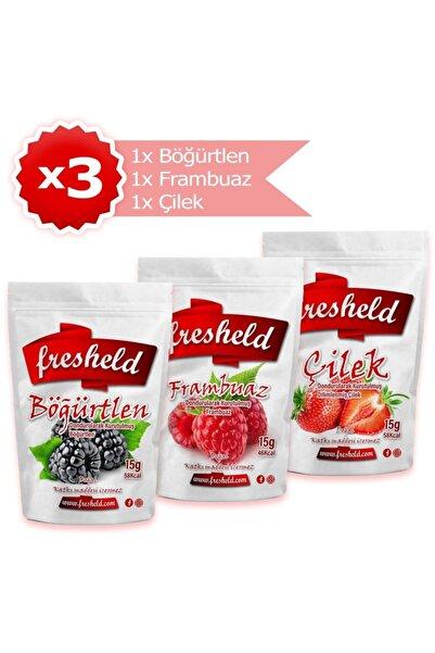 Fresheld Dondurularak Kurutulmuş Böğürtlen Frambuaz Çilek 3'lü Paket