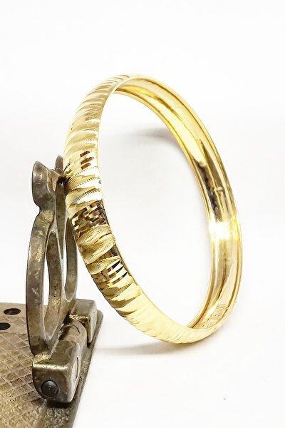 MySilvers Mikron Altın Kaplama Bilezik Kadın Altın
