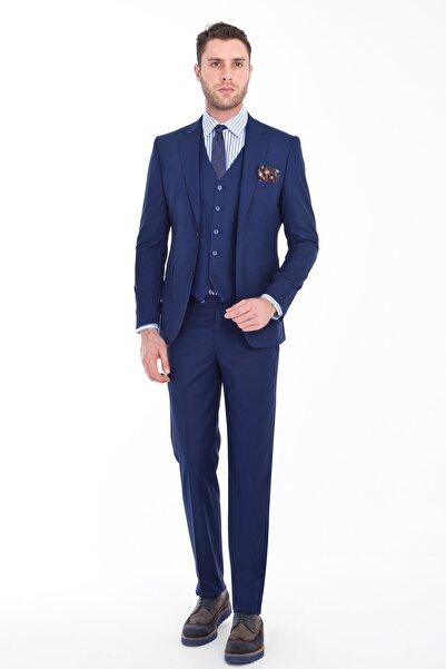 Kiğılı Slim Fit Yelekli Takım Elbise