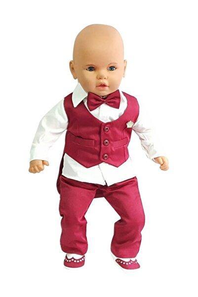 bebegen Bordo 5 Parça Klasik Erkek Bebek Takım