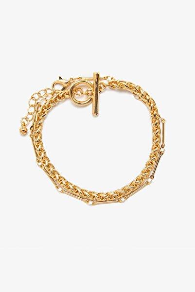 Koton Kadın Sarı Metalik Bileklik 0KAK70952AA