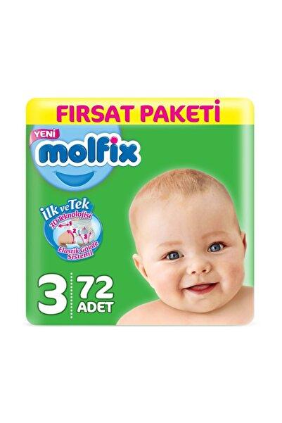 Molfix Bebek Bezi 3 Numara Midi 72 Adet 4-9 Kg.
