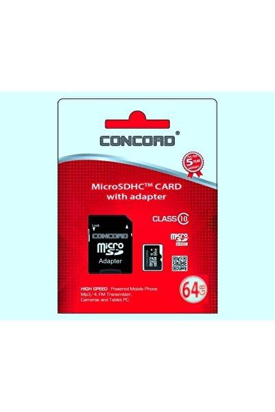 Concord 64 Gb 10 Mbps Hız Micro Sdhc Hafıza Kartı + Adaptör (c-m64)