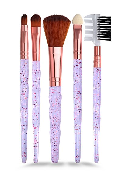 GNX 5'li Fırça Seti - 5 Pcs Brush Set Mor 8682442260932
