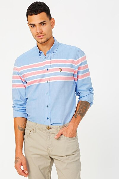 U.S. Polo Assn. Erkek Mavi Gömlek