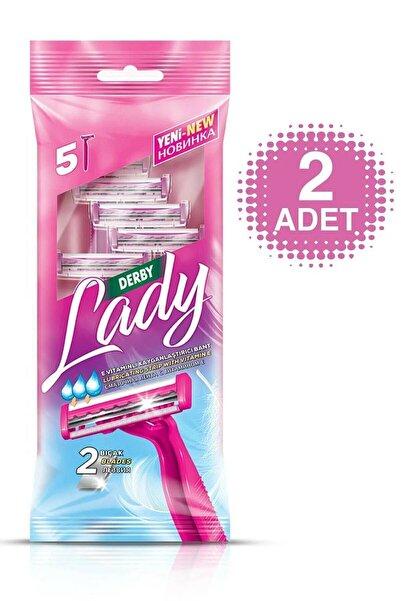 Derby Lady 2 Bıçaklı 5'li Poşet X 2 Adet