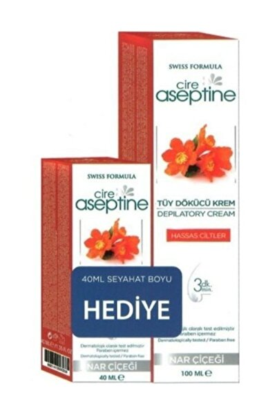CIRE ASEPTINE Tüy Dökücü Krem Nar Çiçeği 100 Ml+ 40 ml