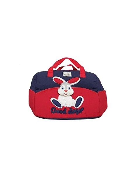 bebegen Tavşan Kabartmalı Lüks Çanta Kırmızı