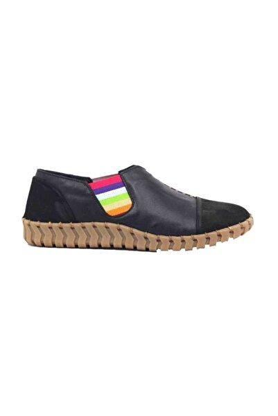 Venüs Hakiki Deri Siyah Kadın Günlük Ayakkabı 2010703y