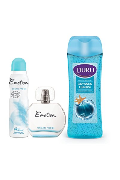 Emotion Ocean Fresh Edt Parfüm 50ml + Deodorant 150ml Ve Duru Duş Jeli 450ml