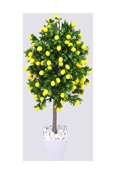 Yapay Çiçek Deposu Yapay Bodur Limon Ağacı Melamin Saksıda 100 cm