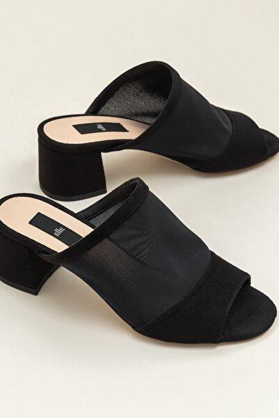 Elle Shoes KYSON Siyah Kadın Terlık