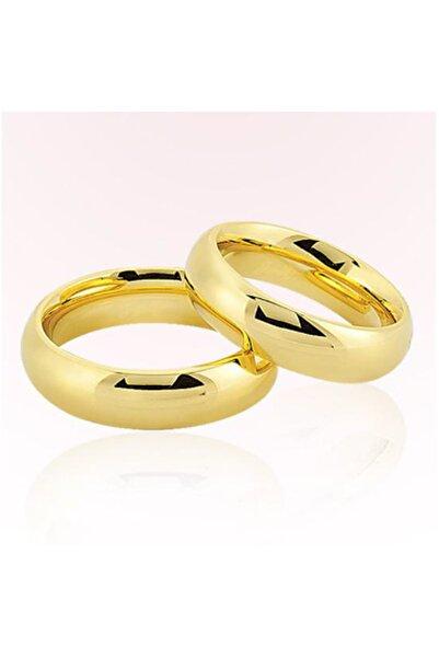 Harem Altın Kadın Sarı Bombeli Altın Alyans 5808