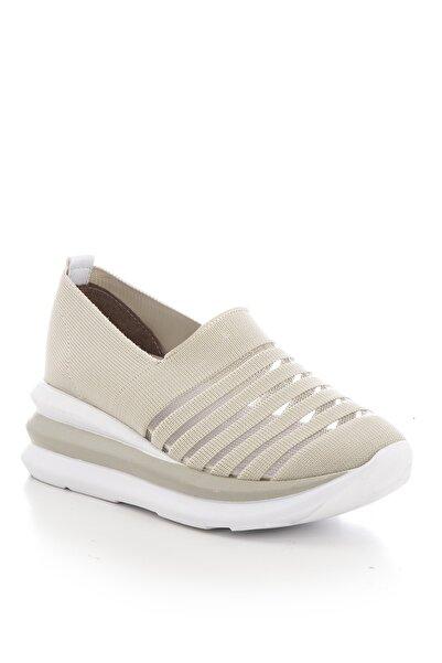 Tonny Black Bej Kadın Sneaker TB1801-1
