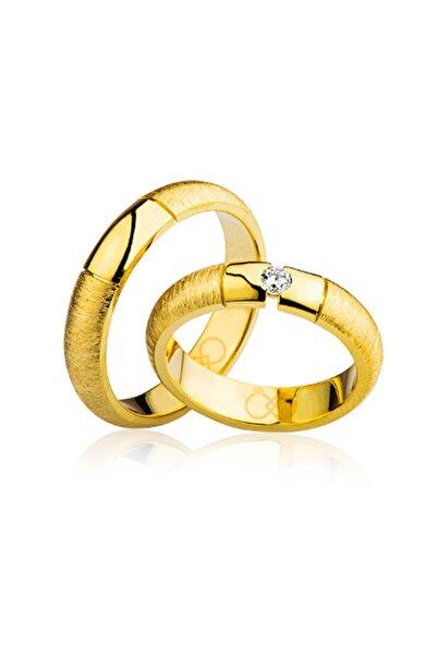 Harem Altın Kadın Klasik Sarı Altın Alyans 2101-3