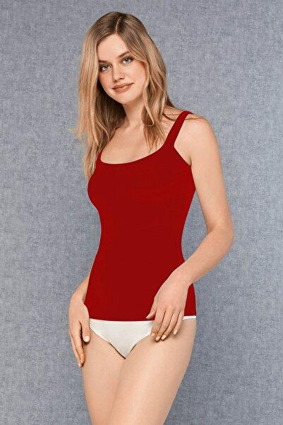 Doreanse Kadın Kırmızı Modal Parmak Askı Atlet 9111