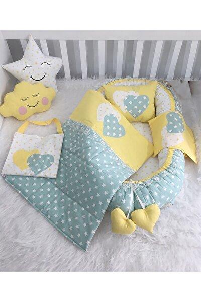 Babynest Ve Emzirme Önlüklü Mint Set Bebek Yuvası