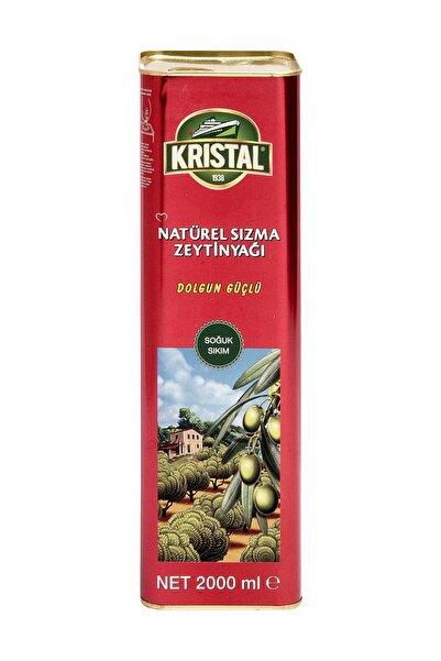 Kristal Natürel Sızma Zeytinyağı Dolgun Güçlü 2 Lt Teneke
