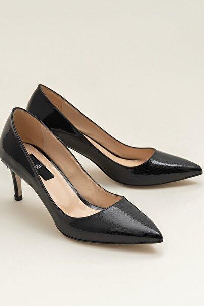 Elle Shoes LANNA Siyah Yılan Kadın Ayakkabı