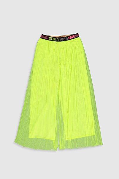 LC Waikiki Kız Çocuk Neon Yeşil Q0G Pantolon