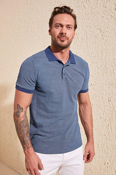 TRENDYOL MAN Lacivert Erkek Regular Fit Polo Yaka T-Shirt TMNSS20PO0047