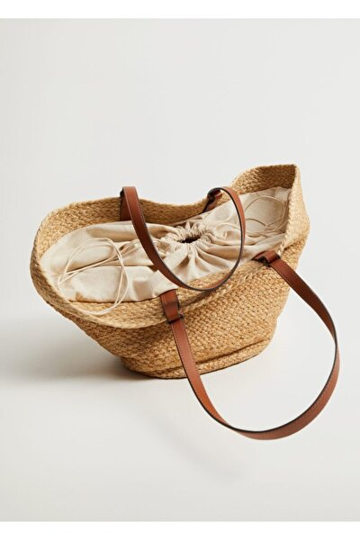 MANGO Woman Kadın Jüt Sepet Çanta