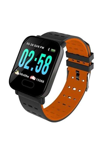 King A6 Smart Watch Akıllı Saat Suya Dayanıklı Nabız Ölçer Kırmızı