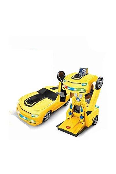 Sunman Yayınları Robot Olan Oyuncak Araba Pilli Işıklı Hareketli