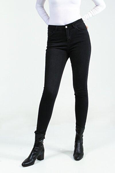 Collezione Kadın Siyah Pantolon Motap