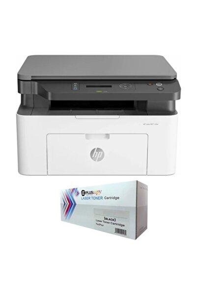 HP Laser Mfp 135w 4zb83a Lazer Yazıcı Sınırsız Chipli Ve Tam Dolu Pluscopy Tonerli