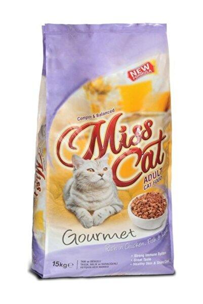 Misket Miss Cat Gurme Renkli Tavuklu, Balıklı, Ciğerli Yetişkin Kedi Maması 15 Kg