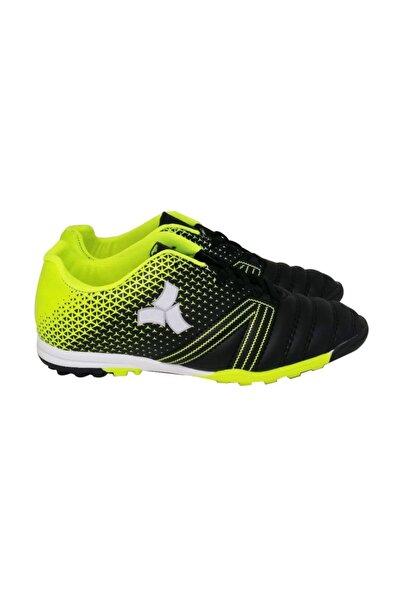 Twingo Erkek Siyah-Yeşil Bağcıklı Futbol Ayakkabısı Halı Saha