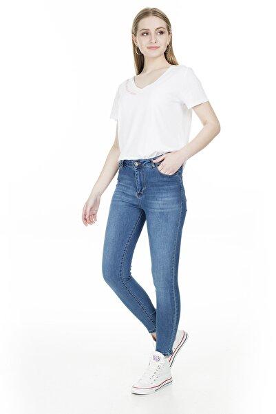 Fashion Friends Yüksek Bel Jeans KADIN KOT PANTOLON 20Y0565