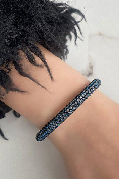 TAKIŞTIR Kadın Mavi Renk Taşlı Bileklik
