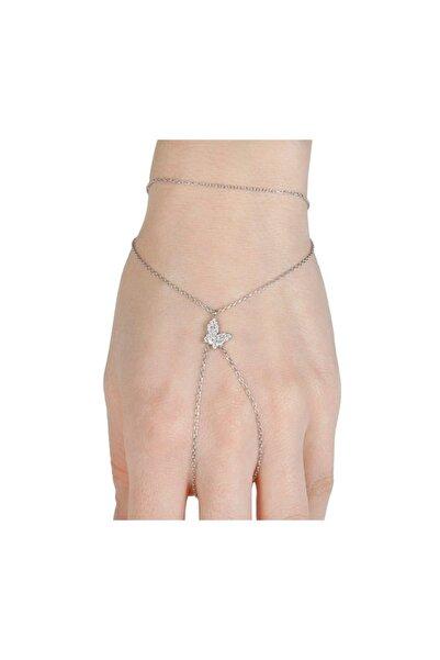 Afrodit Silver Kelebek Tasarım Gümüş Sahmeran Bileklik
