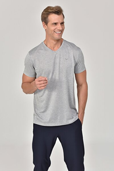 bilcee Gri Erkek T-shirt  GS-8820