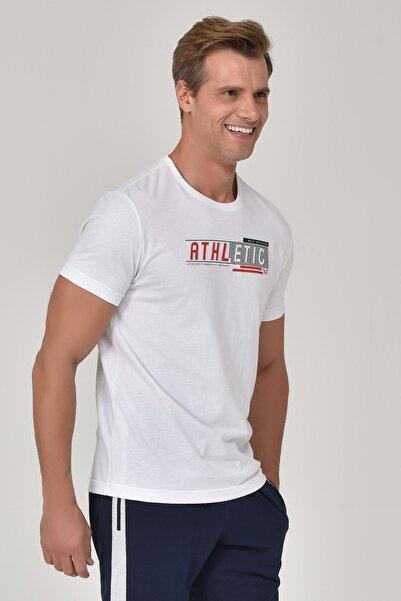 bilcee Beyaz Erkek T-shirt  GS-8812