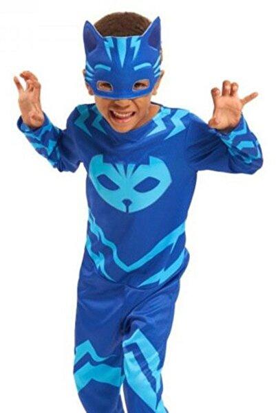 Annee Bakk Unisex Çocuk Pijamaskeliler Kedi Kostümü, PJMask Catboy Kıyafeti