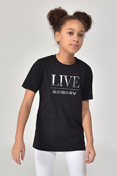 bilcee Siyah Kız Çocuk T-Shirt GS-8151
