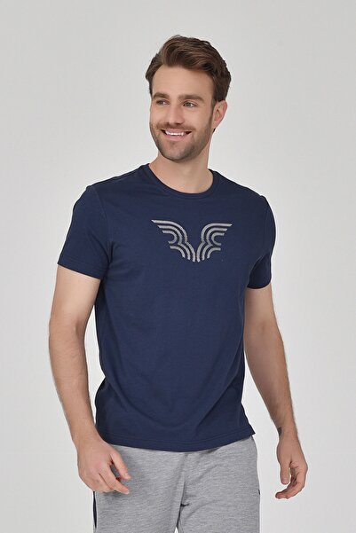 bilcee Lacivert Erkek T-shirt  GS-8814