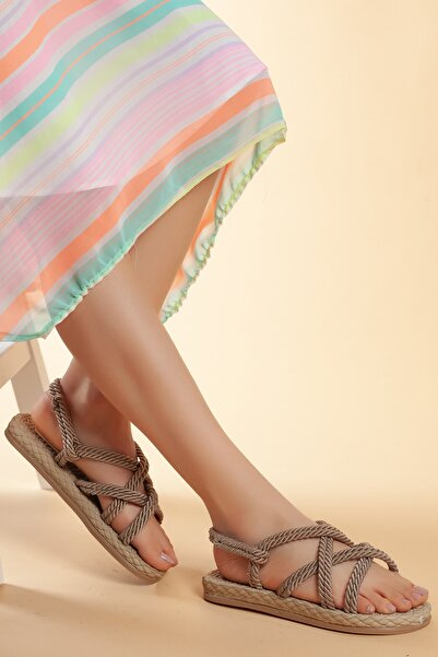 Daxtors Hasır Günlük Kadın Sandalet