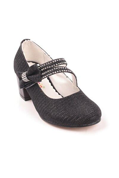 Akıllı Şirin Taş Işlemeli Topuklu Kum Süet Genç Kız Çocuk Ayakkabı