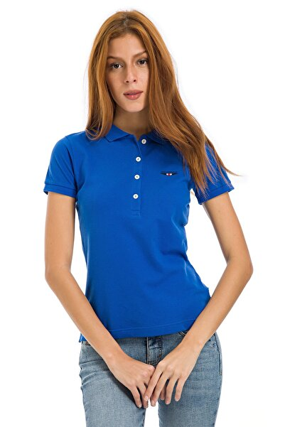 Galvanni Kadın  Mavi Polo Tişört - NYKO